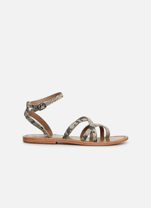 Sandals White Sun Babylonia Grey back view